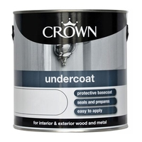 CROWN UNDERCOAT PAINT WHITE 2.5 LTR
