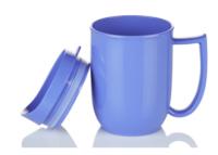 Blue Dining Mug with lid