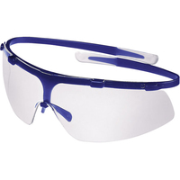 Uvex Super G Safety Glasses, Blue, Clear Lens