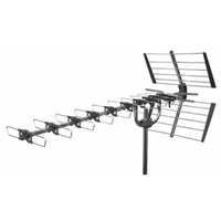 High Gain Wide Band 52 element TV Aerial, F connection, Quick fit Reflector
