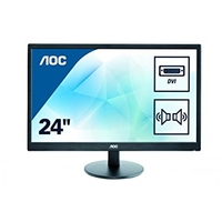 "AOC 24"" 1080p HDMI VGA Monitor Speakers"