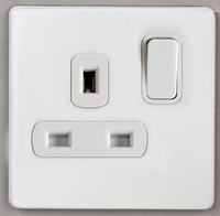 DETA Screwless 1 Gang Socket White Metal White Insert | LV0201.0029