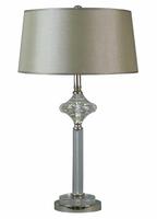 Tishan Table Lamp Metal and Glass Base Grey Shade