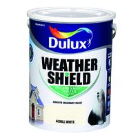 Dulux Weathershield Achill White 5L
