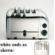 Toaster Combi 2x2 Standard White Ends