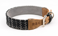 Ralph & Co Tweed & Leather Collar - Ascot Black X-Small x 1