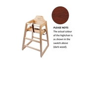 High Chair Walnut Unassembled