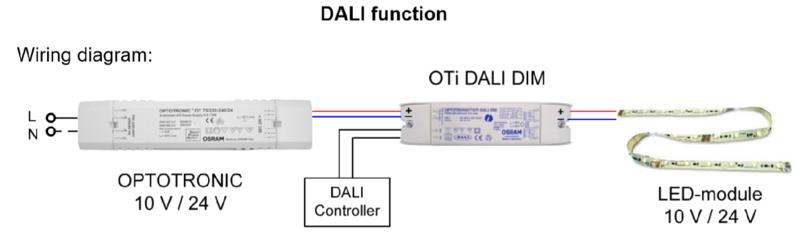 OTI DALI DIM 10-24 VOLT LED DIMMER MODULE Dali Lighting Control With Dimmer Wiring Diagram on