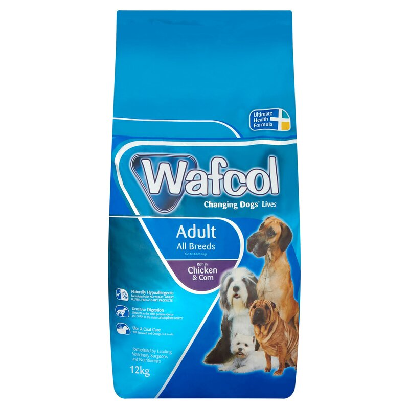 Wafcol Chicken & Corn Dog Food 12kg