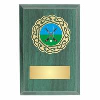 10cm Foil Blocked Green Plaque (V202)