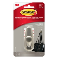 Command Medium Metal Hook Brushed Nickel FC12-BN