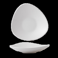 "Plastic White Lotus Melamine Dish 14"" Carton of 4"