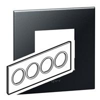 Arteor (British Standard) Plate 8 Module Round Graphite   | LV0501.0337