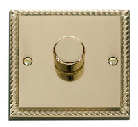 Click Deco Georgian Cast Brass 1 Gang 2 Way Dimmer | LV0101.0058