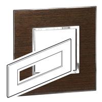 Arteor (British Standard) Plate 8 Module Square Wenge | LV0501.2795