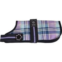 """Outhwaite Dog Coat Padded Lining 22"""" Lilac Tartan x 1"""