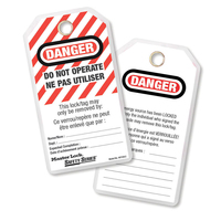 Master Lock Do not operate safety tag, french/english, laminated
