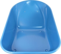 Wheelbarrow Steel 85lt Capacity - Blue