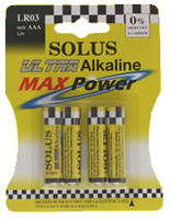 SOLUS LR03/AAA 18X4 BATTERIES