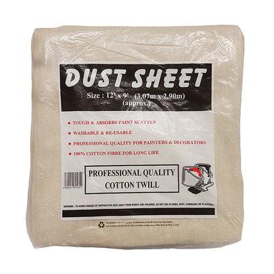 12 x 12 Cotton Twill Dust Sheet (WT349)