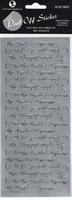 Bride & Groom Words Silver Peel-Off. (Priced in singles, order in multiples of 12)