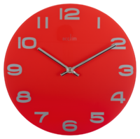 ACCTIM WALL CLOCK RED GLASS