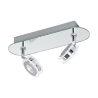 EGLO Agueda 1 Polished Chrome Twin Spot Wall Light LED 2x3.3w | LV1902.0038