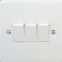 Vimark 10A 3 Gang 2 Way Switch