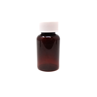PET Tablet Bottles Amber 75ml (100)