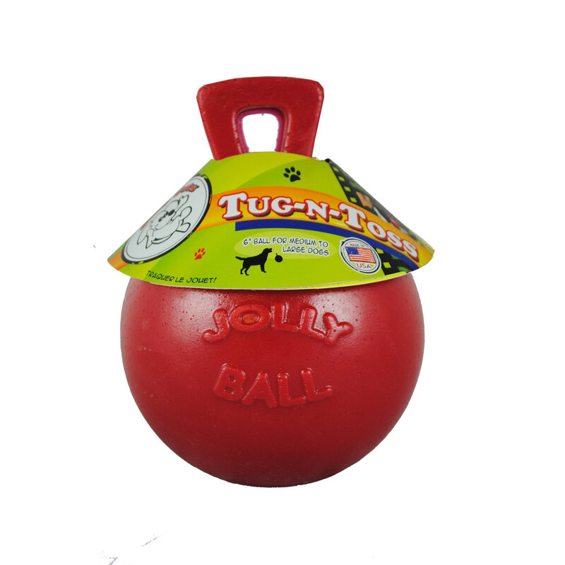 Battles Jolly Ball Tug-N-Toss Red 15cm