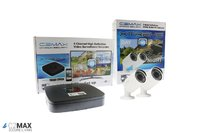 C2Max 4CH 1TB DVR and 2 x  Fixed IR White Bullet Cameras with cable and PSU