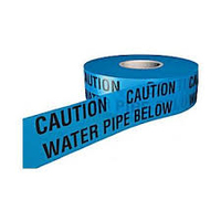 CAUTION WATER PIPE BELOW WARNING TAPE 150MM X 365M
