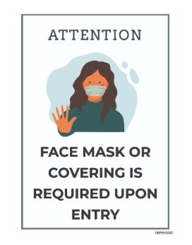 Face coverings mandatory in England from 24th July - Downloadable signs