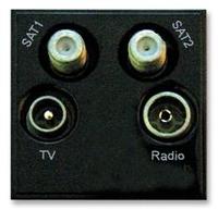 Triax TV/Radio/Sat/Sat 2 Insert Black(304265)