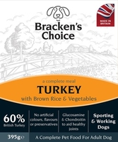 Bracken's Choice Working Dog Trays - Turkey and Brown Rice & Veg 395g x 10 [Zero VAT]