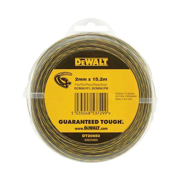 Dewalt DT20650 2.0mm 15.2mtr Roll Trimmer Line For 18v Strimmer DCM561