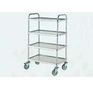 Bourgeat Trolley S/S 4Tier 840 x 550x1280mm with Brakes