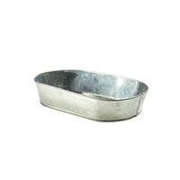 Galvanised Steel Serving Platter 240x150x50mm