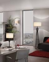 VALSENO BLACK FLOOR LAMP WITH WHITE SHADE | LV1902.0005