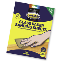 PVGP120/10 PROSOLVE GLASS SANDPAPER SHEET 9X11""