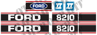 Decal Ford 8210 Force 2 Red & Black