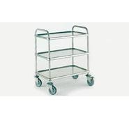 Bourgeat Trolley S/S 3 Tier 840 x 540x960mm High With Brakes