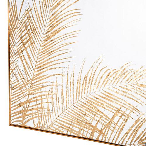 Mirror Art Fern Silhouette - Gold close up