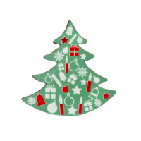 CHD-PS-19617EO-999 GREEN CHRISTMAS TREE (96 PCS)