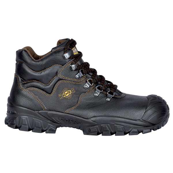 53432093919 Cofra New Reno UK Black Laced Boot with Scuffcap, S3, SRC