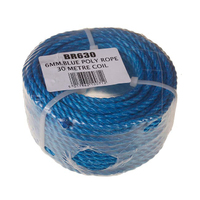 6mm Blue Poly Rope Handy Coil 30m (C571)