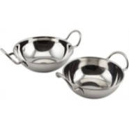 Balti Dish with Handles Stainless Steel 13cm