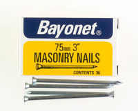 Bayonet Zinc Plated Masonry Nails (36) 75mm 36 Nails - 12214