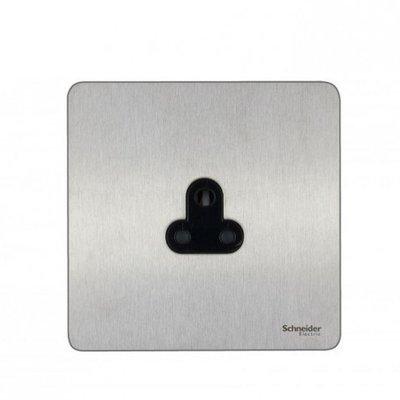 Schneider Ultimate Screwless 1 Gang Stainless Steel Black|LV0701.0929