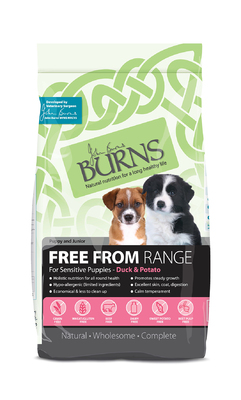 Burns 'Free From' Grain Free Puppy - Duck & Potato 6kg